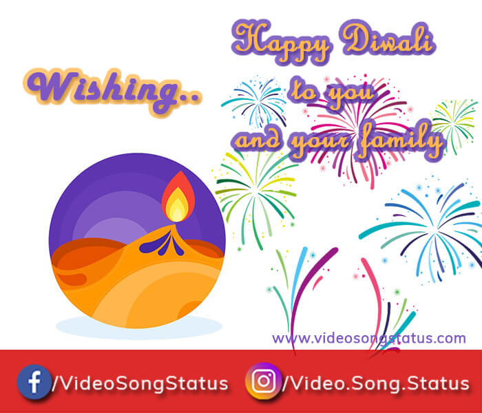 Happy diwali wishes 2018 with a beautiful diwali images in cartoon