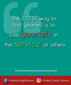 Lose yourself in service - suvichar download