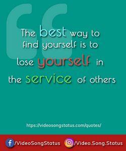 Lose yourself in service - suvichar download