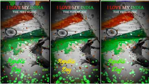 I Love My India Flag Republic Day