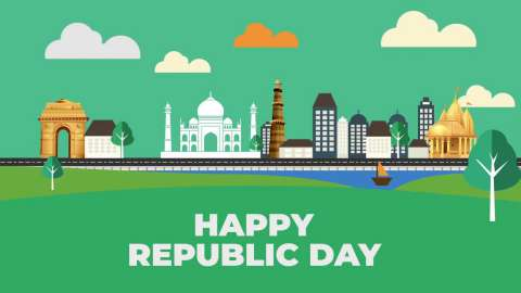 Animated Happy Republic Day Wishes Video - 26 January Status