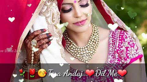 Teri Chahate Tera Andaz Dil Me Hindi Status Love