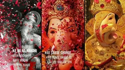 Bollywood Ganesh Full Screen Status Video Download
