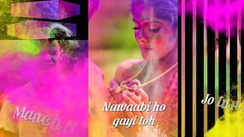 Gulabi Holi Video Song Status Fullscreen Download
