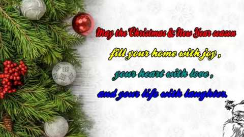 Wish You Merry Christmas And Happy New Year Wishes Greetings Video