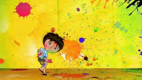 Colourfull Holi Special Cartoon Status Ft Rang De Basanti
