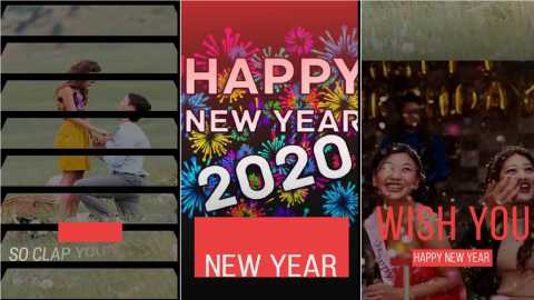 Best Happy New Year For Girls Wishes Fullscreen Status Video