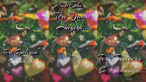 Jab Bhi Teri Yaad Full Screen Status Video Hindi
