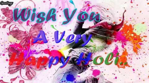 Happy Holi Wishes Greetings Video Status