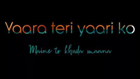 Tere Jaisa Yaar Kahan Friendship Day Status Video
