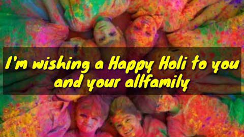 Happy Holi Wishes Video Status
