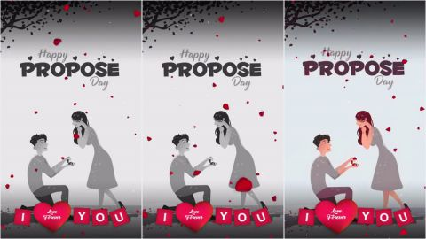Most Beautiful Propose Day Wishes Whatsapp Status Video