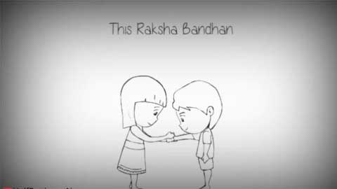 Animated Siblings Raksha Bandhan Whatsapp Status Video
