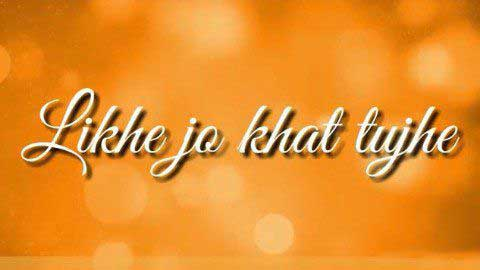 Likhe Jo Khat Tujhe Whatsapp Status Video Song