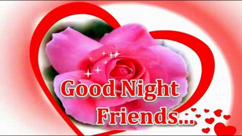 Good Night Beautiful Wishes Of Roses And Hearts