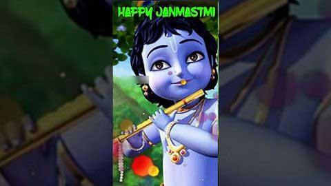 Dahi Handi Fod - Janmashtami Cartoon