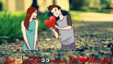Jise Dekh Mera Dil Dhadka Love Hindi Status
