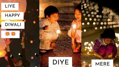 Wish You Happy Diwali Fireworks Status Video
