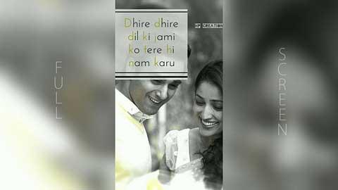 Sanam Re Love Full Screen Video Status Download