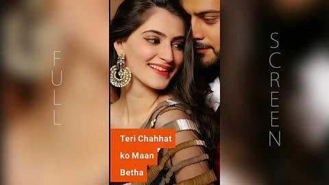 Tere Mere Pyaar Nu Full Screen Status Video Download