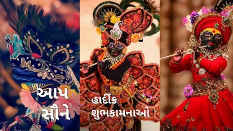 Krishna Janmashtami Special Whatsapp Status In Gujarati