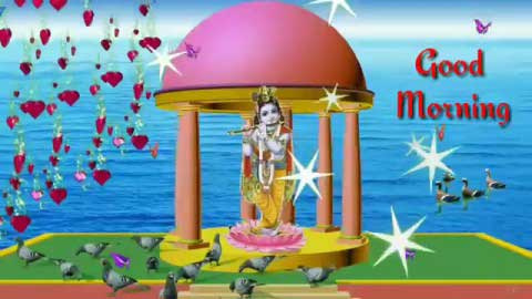 God Krishna Good Morning Whatsaap Status Video