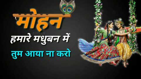 Mohan Hamare Madhuban Mein Status Radha Krishna