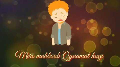 Mere Mehboob Qayamat Hogi Alone Whatsapp Status Video