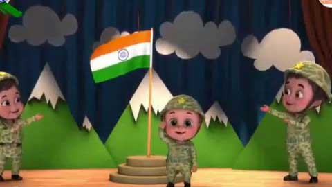 Sare Jahan Se Achha Kid Singing Song For Independnce Day Animated