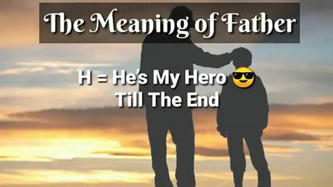 Meaning Of Father Status Video