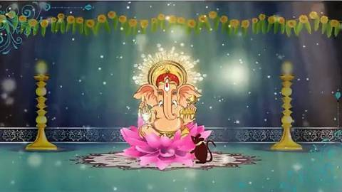 Ganesha Wishes Card Whatsapp Status Video