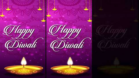 Beautiful Happy Diwali Full Screen Status Video Download