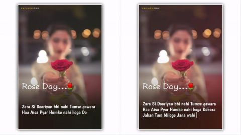 Thoda Aur Love Romantic Song On Rose Day Hindi Status Download